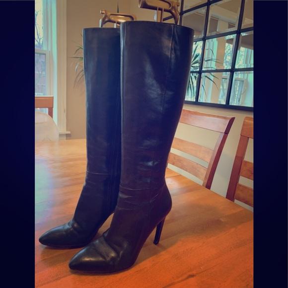 4476b043435 Via Spiga Italian designer black leather boots